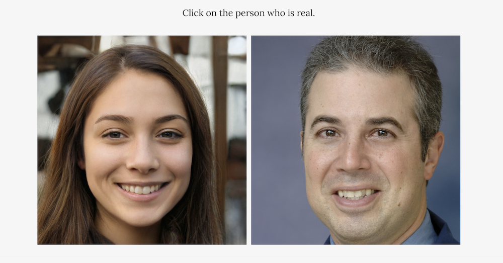 Which Face is Real?